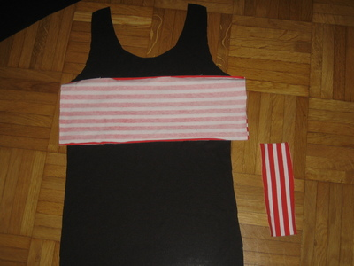 How to make a tank top. Pin Up Bow Front Tank Top - Step 2