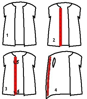 How to make a sweater / jumper. Waistcoat And Gloves From A Jumper - Step 3