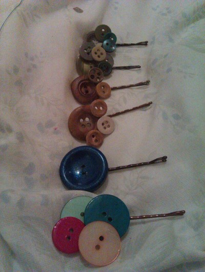 How to make a button bobby pin. My Variation Of Button Bobby Pins. - Step 5