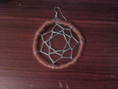How to make a dream catcher pendant. Dream Catcher Necklace - Step 10