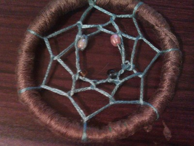 How to make a dream catcher pendant. Dream Catcher Necklace - Step 11