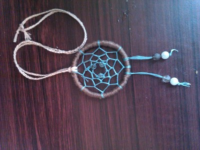 How to make a dream catcher pendant. Dream Catcher Necklace - Step 12