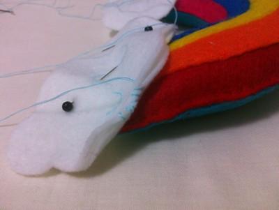 How to make an object plushie. Kawaii Rainbow And Clouds - Step 7