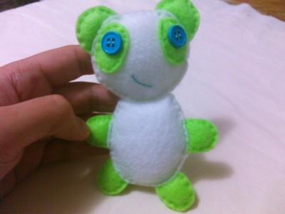 How to make a panda plushie. Small Green Panda Plush - Step 6