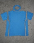 How to recycle a sweater into a dress. Upcycled Dress From Mom's Sweater And Kids Tee - Step 2