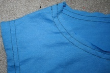 How to recycle a sweater into a dress. Upcycled Dress From Mom's Sweater And Kids Tee - Step 6