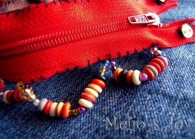 How to make a zipper bracelet. Functional Zip Cuff - Step 8