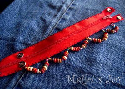 How to make a zipper bracelet. Functional Zip Cuff - Step 9