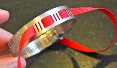 How to make a metal cuff. Diy Home Depot Bracelet - Step 2