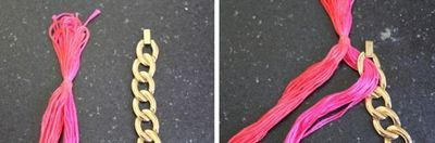 How to make a chain necklace. Diy Woven Chain Necklace - Step 4