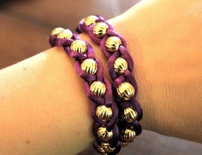 How to braid a braided bead bracelet. Embellished Wrap Bracelets - Step 4