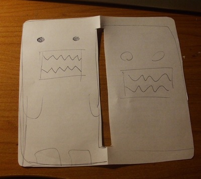 How to sew a fabric character pouch. Domo Kun Pouch - Step 1