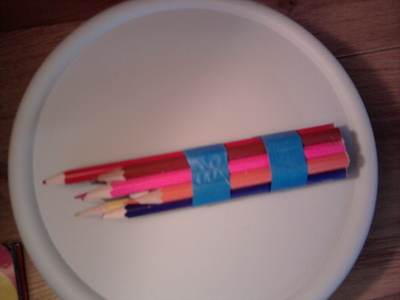 How to recycle a pencil bracelet. Pencil Bracelet - Step 2