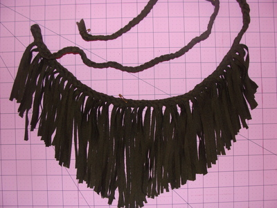 How to make a fringed top. Braided Fringe Tank (Version Of Boston Proper's Garment) - Step 4