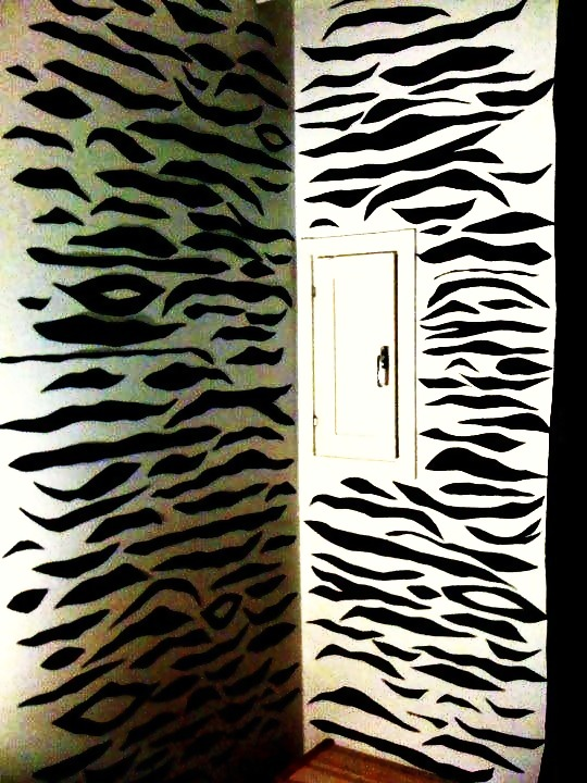 Zebra Print Wall Art · How To Make A Wall Decal · Art and Drawing on ...