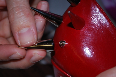 How to make a pair of embellished shoes. Diy Spiked/Studded Heels - Step 3