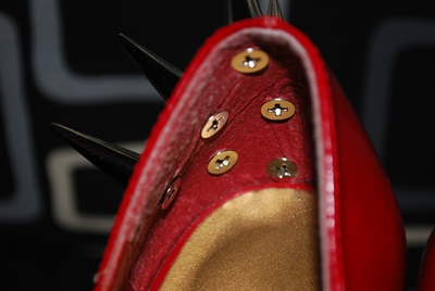 How to make a pair of embellished shoes. Diy Spiked/Studded Heels - Step 4