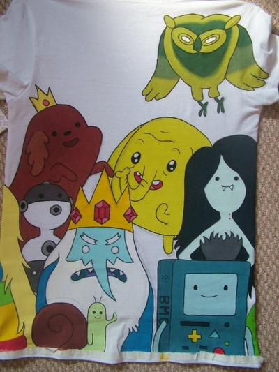 How to paint a character top. Adventure Time Tee - Step 4