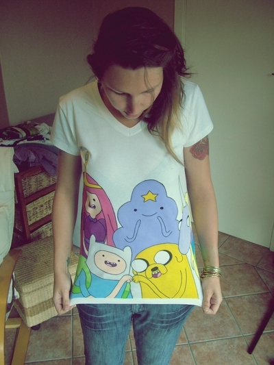 How to paint a character top. Adventure Time Tee - Step 6