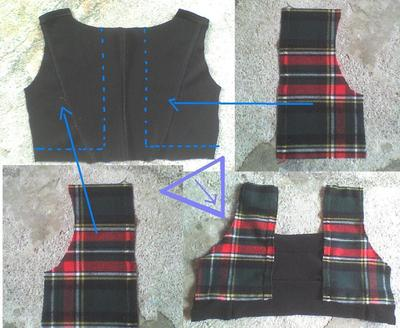 How to sew a hand sewn dress. Plaid Winter Dress - Step 2