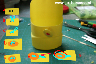 How to make an embellished pouch. Mini Pouch Of A Bleachbottle - Step 11