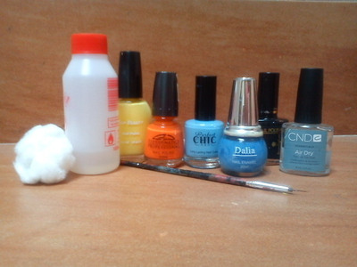 How to paint an animal nail. Owl Nails :) - Step 1