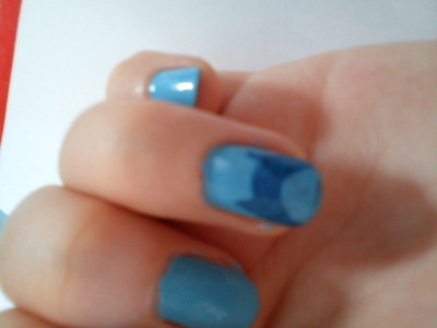 How to paint an animal nail. Owl Nails :) - Step 3