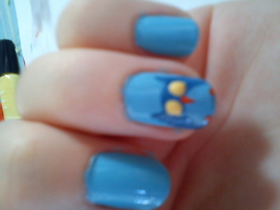 How to paint an animal nail. Owl Nails :) - Step 5
