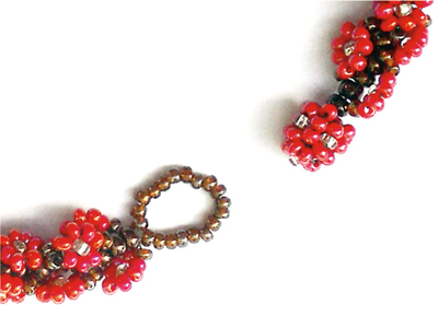 "How to bead a woven bead bracelet. Garland Rope ""Bauble 'N' Loop"" Beaded Clasp Option - Step 1"