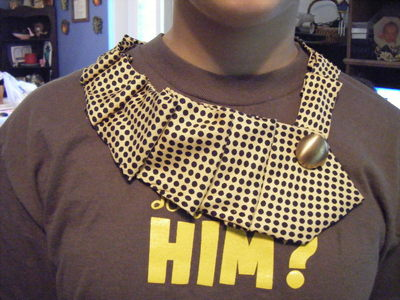 How to make a bow tie. Tie Necklace - Step 7
