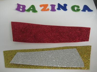 How to make an embellished headband. Bazinga! Glitter Headband - Step 1