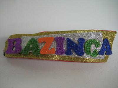 How to make an embellished headband. Bazinga! Glitter Headband - Step 3