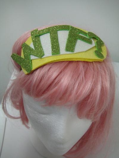 How to make an embellished headband. Bazinga! Glitter Headband - Step 4