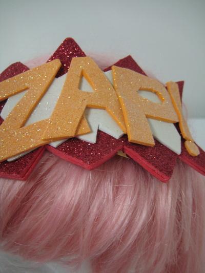How to make an embellished headband. Bazinga! Glitter Headband - Step 5