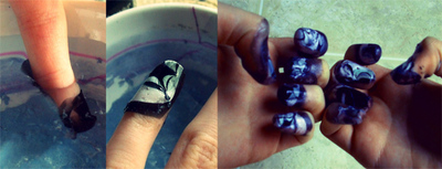 How to paint seasonal nail art. Spooky Spider Nails; A Halloween Diy - Step 6