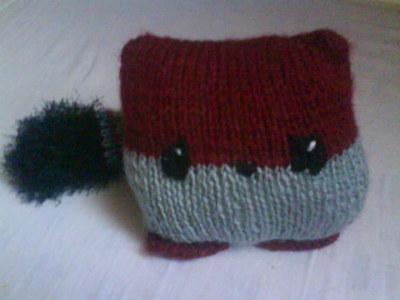 How to make a fox plushie. Knit A Fox - Step 2