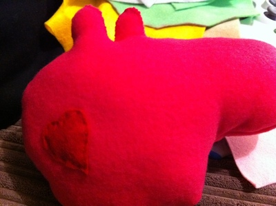 How to make a pig plushie. Peppa Pig - Step 5