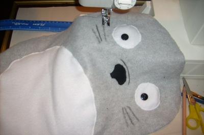 How to make a bear plushie. Totoro Pillow Plushy  - Step 3