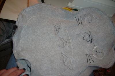 How to make a bear plushie. Totoro Pillow Plushy  - Step 6