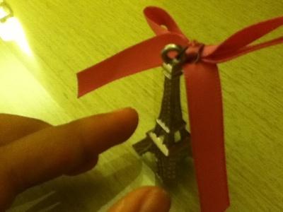 How to make a metal pendant. J'adore Paris Necklace - Step 3