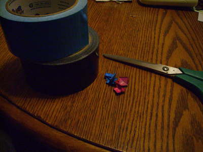 How to make a ring. Studded Duct Tape Rings - Step 1