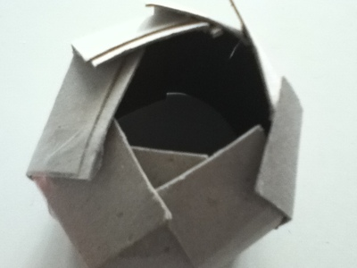 How to make a paper model. Paper Teacup ♥ - Step 4