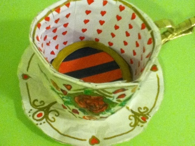 How to make a paper model. Paper Teacup ♥ - Step 12