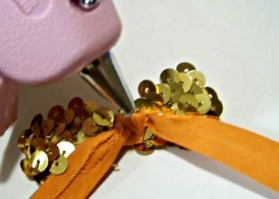 How to make a sequin hair bow. Diy Sequin Bow Hair Clips - Step 5