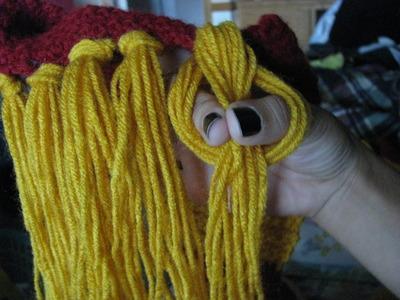 How to knit or crochet a stripy scarf. Gryffindor Scarf - Step 11