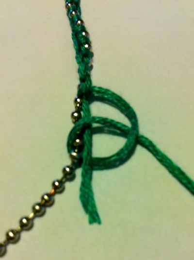 How to make a chain bracelet. Wrapped Chain Bracelet - Step 1