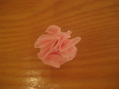 How to make a fabric ring. Fabric Flower Ring - Step 5