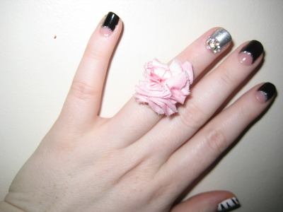 How to make a fabric ring. Fabric Flower Ring - Step 7