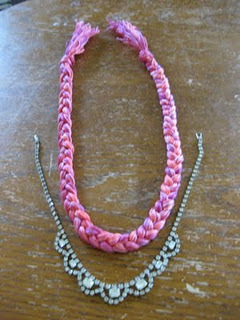 How to braid a necklace. Diy Embroidery Thread And Rhinestone Necklace - Step 5