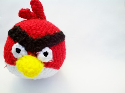 How to make a bird plushie. Angry Birds Amigurumi Red Bird Plushie - Step 9